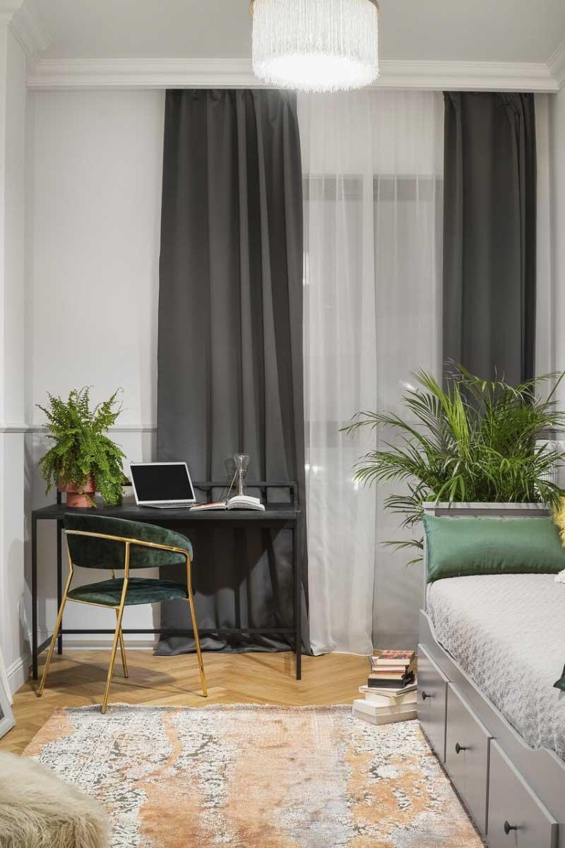 dywan w małym pokoju