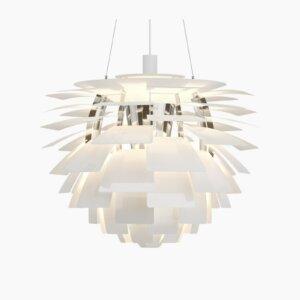 Louis Poulsen lampa wisząca PH ARTICHOKE White