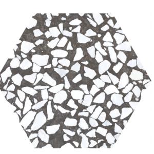 Płyki CIFRE Riazza Hex Nero 23,2×26,7