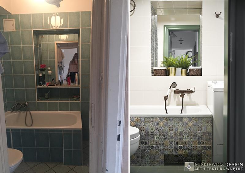 Metamorfoza łazienki | proj. Miśkiewicz Design