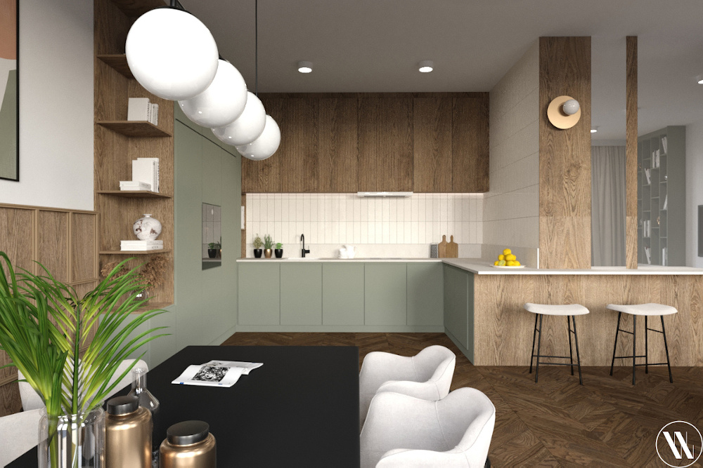 Kuchnia w stylu organicznego minimalizmu | proj. Weronika Wodczak