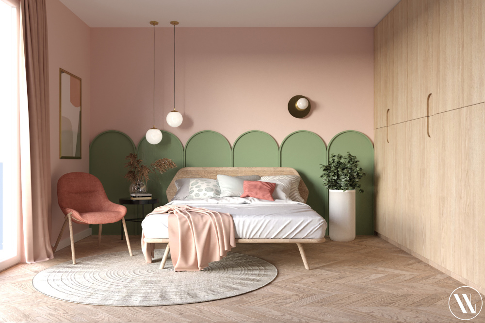 Sypialnia w duchu organicznego minimalizmu | proj. Weronika Wodczak