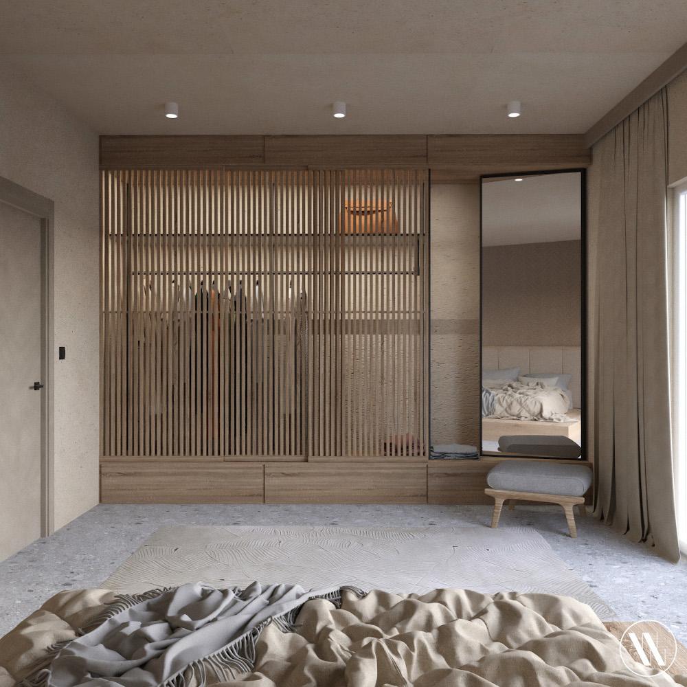 Organiczny minimalizm we wnętrzach | proj. Weronika Wodczak