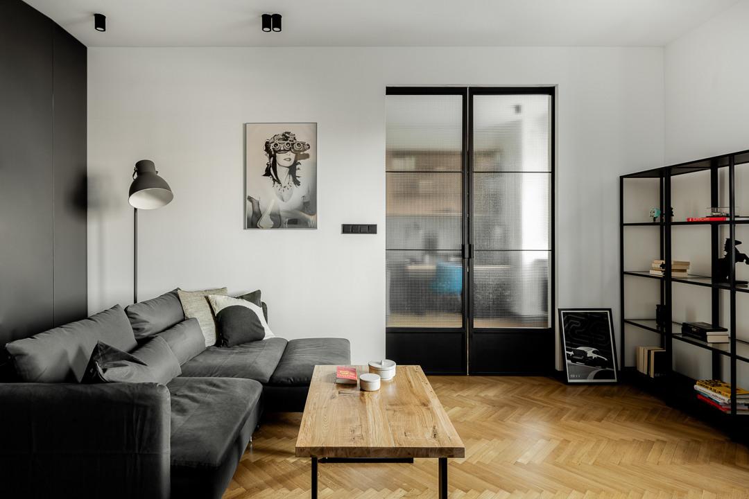 Salon   proj. Fuga Architektura Wnętrz, zdj. Aleksandra Dermont