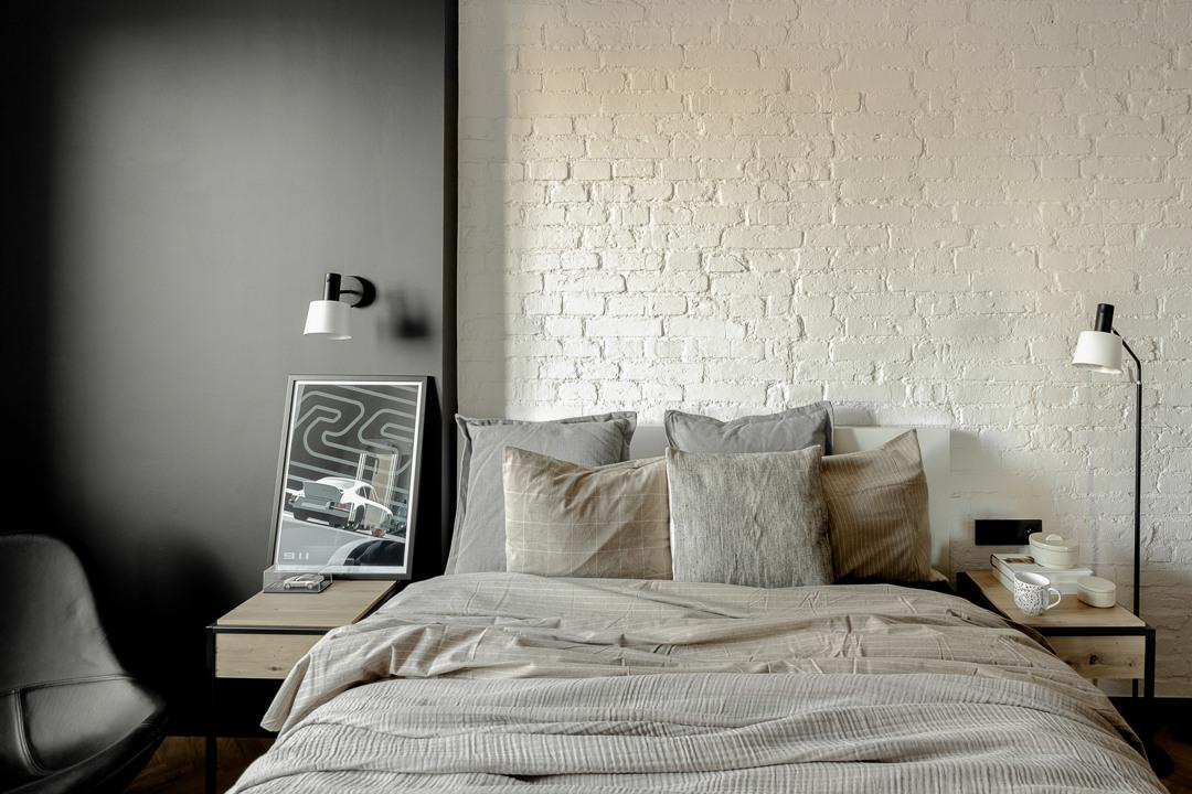 Sypialnia   proj. Fuga Architektura Wnętrz, zdj. Aleksandra Dermont