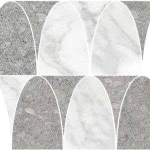 Płytki TERRATINTA Vicentina Cenere Ellipse 31.8 × 39 cm