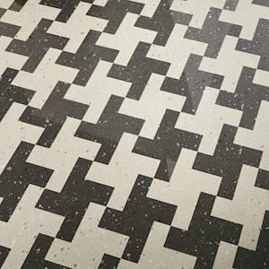 Płytki Floor Gres kolekcja Earthtech Carbon Flakes Pumice Mosaico Twist 30 x 30