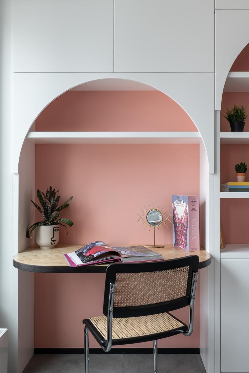 różowe wnętrza