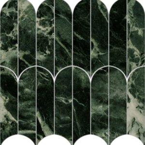 Płytki Marazzi Allmarble Verde Aver Lux Mosaico Ventaglio