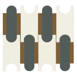 Płytki Marazzi Momenti mosaico puzzle bianco MM 06 Size 30,6×32,8