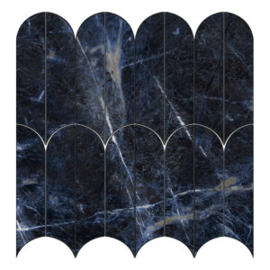 Płytki Marazzi kolekcja Allmarble Sodalite Blu Mosaico Ventaglio