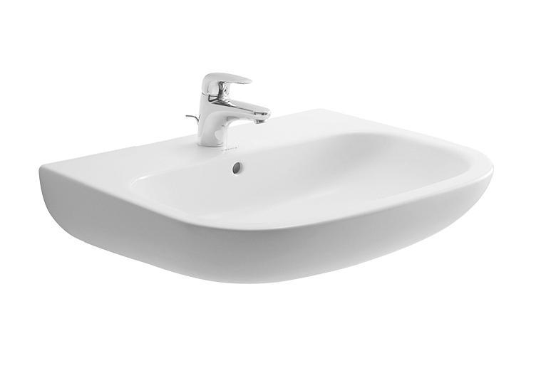 Duravit D-Code Umywalka ścienna 60x46 cm biała