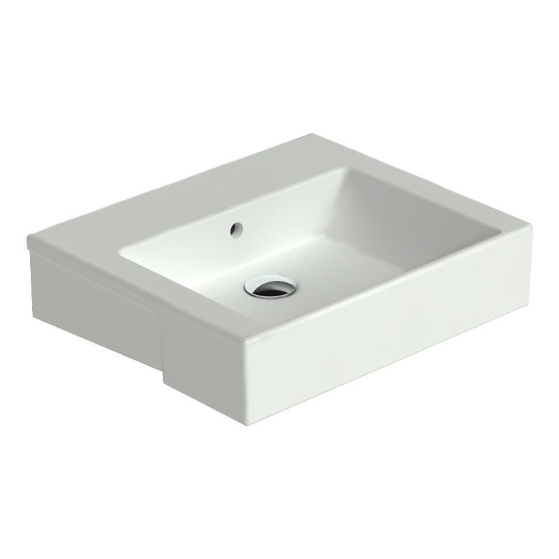 Catalano Premium Umywalka półblatowa 55x47 Biała