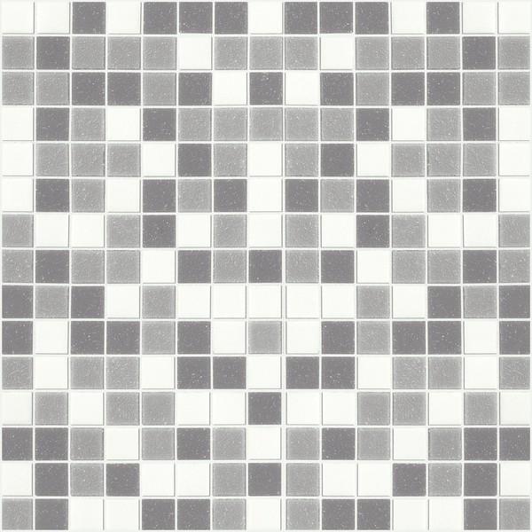 Marazzi Italia SistemV- Glass mosaic Mozaika 32.7x32.7 Grigio Mix Carta