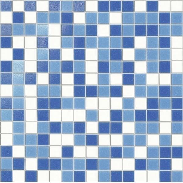 Marazzi Italia SistemV- Glass mosaic Mozaika 32.7x32.7 Cobalto Mix Rete