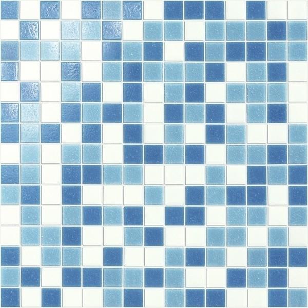 Marazzi Italia SistemV- Glass mosaic Mozaika 32.7x32.7 Turchese Mix Rete