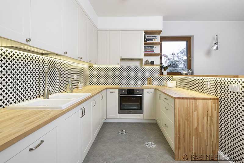 Aranżacja kuchni w stylu skandynawskim | proj. Partner Design
