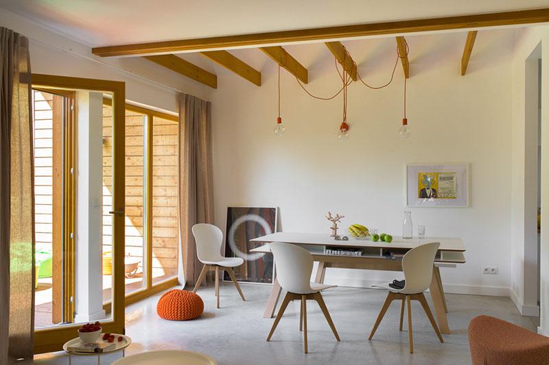 simple house, tanie domy modułowe, prefabrykowane, szkieletowe, wnętrze