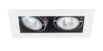 SternLight Basicstern lampa wpuszczana 2xGU10 biało-czarna