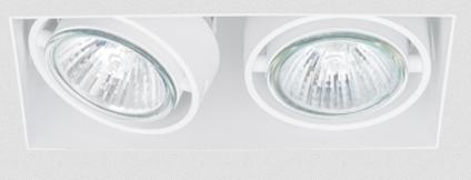 SternLight BasicStern Oprawa wbudowana bezramkowa TRIMLESS 2xGU10 biała