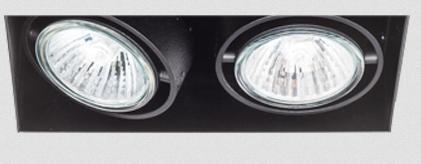 SternLight BasicStern Oprawa wbudowana bezramkowa TRIMLESS 2xGU10 czarna