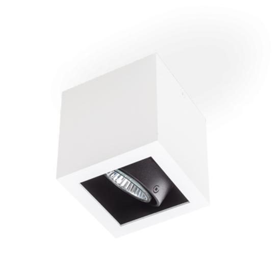 SternLight BasicStern Oprawa natynkowa SURFACE 2xGU10 biało-czarna