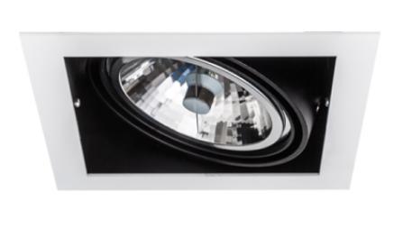 SternLight BasicStern Oprawa wbudowana RECESSED 1xG53 biało-czarna
