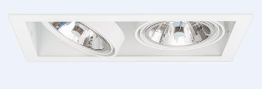 SternLight BasicStern Oprawa wbudowana RECESSED 2xG53 biała
