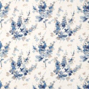Sanderson Waterperry Fabrics Tkanina Delphiniums Indigo