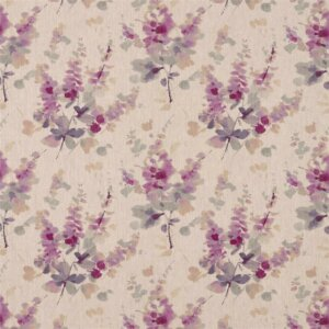 Sanderson Waterperry Fabrics Tkanina Delphiniums Grape