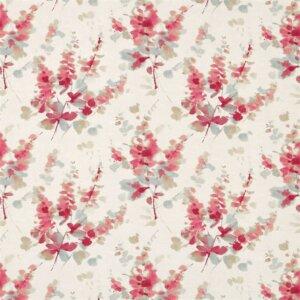 Sanderson Waterperry Fabrics Tkanina Delphiniums Coral