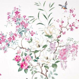 Sanderson Waterperry Fabrics Tkanina Magnolia & Blossom Blossom/Leaf