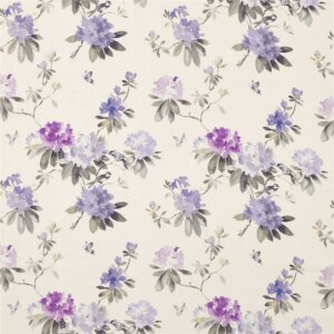 Sanderson Waterperry Fabrics Tkanina Rhodera Grape
