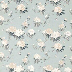 Sanderson Waterperry Fabrics Tkanina Rhodera Aqua
