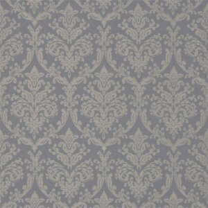 Sanderson Waterperry Fabrics Tkanina Riverside Damask Pewter
