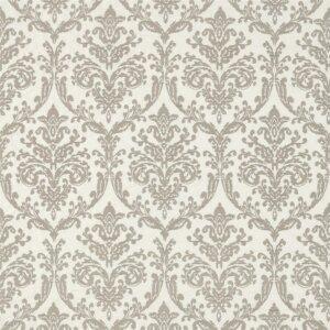 Sanderson Waterperry Fabrics Tkanina Riverside Damask Silver