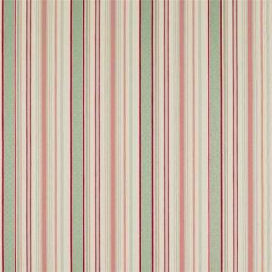 Sanderson Maida Fabrics Tkanina Dobby Stripe Coral/Celadon