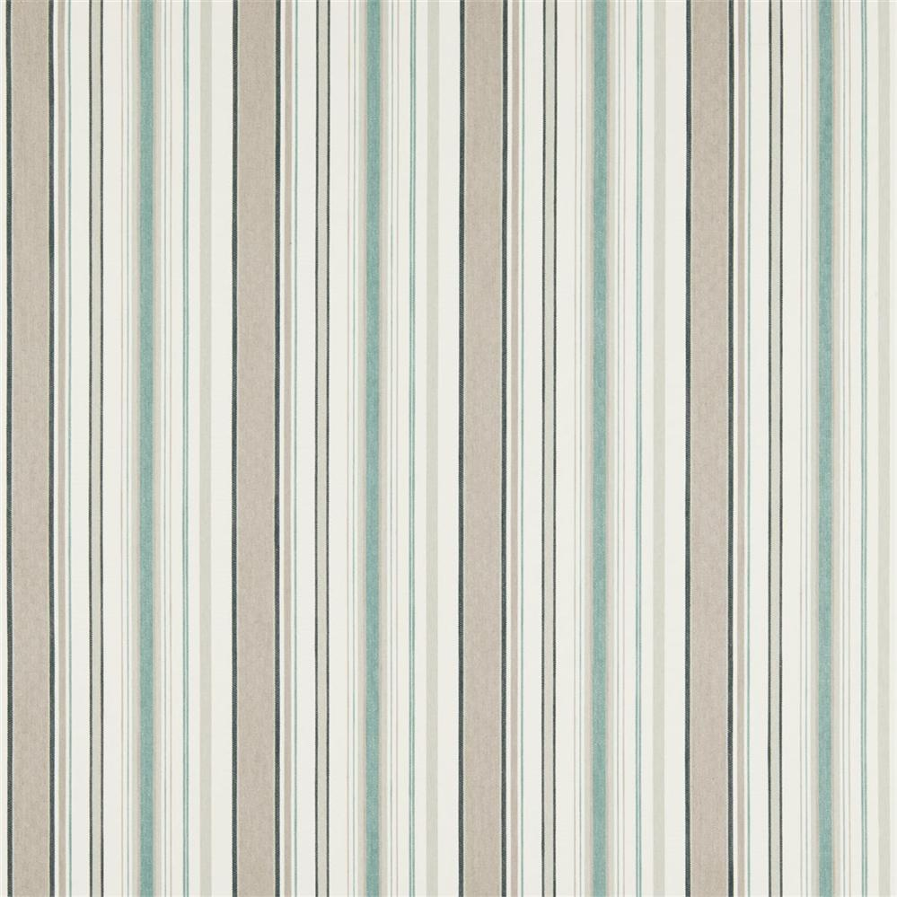 Sanderson Maida Fabrics Tkanina Dobby Stripe Winter Rocket