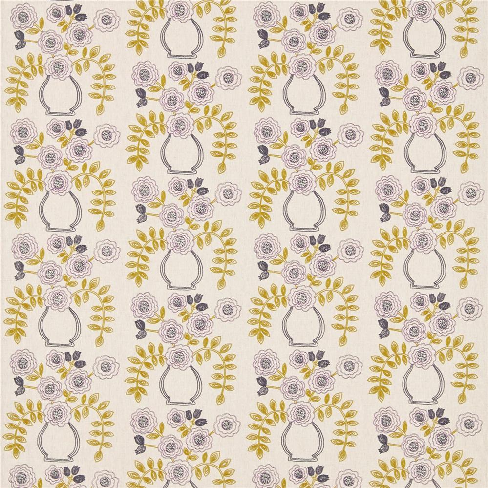 Sanderson Maida Fabrics Tkanina Flower Pot Fig/Olive