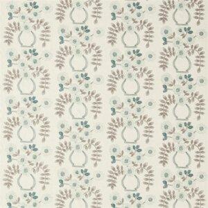 Sanderson Maida Fabrics Tkanina Flower Pot Winter Rocket