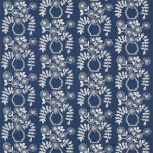 Sanderson Maida Fabrics Tkanina Flower Pot Indigo