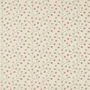 Sanderson Maida Fabrics Tkanina Gingko Trail Coral/Celadon