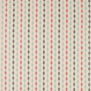 Sanderson Maida Fabrics Tkanina Shaker Stripe Coral/Celadon