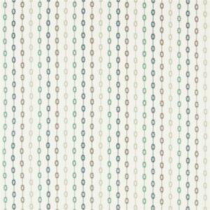 Sanderson Maida Fabrics Tkanina Shaker Stripe Winter Rocket