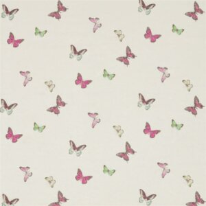 Sanderson Woodland Walk Tkanina Butterfly Voile Fuchsia/Cream