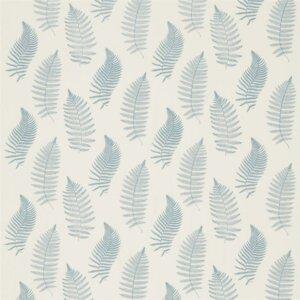 Sanderson Woodland Walk Tkanina Fern Embroidery Powder Blue