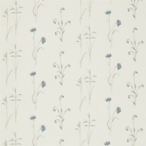 Sanderson Woodland Walk Tkanina Meadow Grasses Cobalt/Chalk
