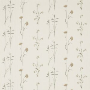 Sanderson Woodland Walk Tkanina Meadow Grasses Sage/Honey