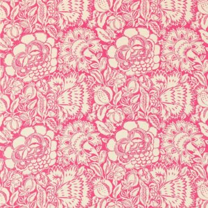 Sanderson Sojourn Prints & Embroideries Tkanina Poppy Damask Fuchsia/Cream