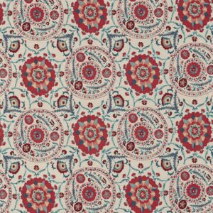 Sanderson Sojourn Weaves Tkanina Anthos Red/Indigo
